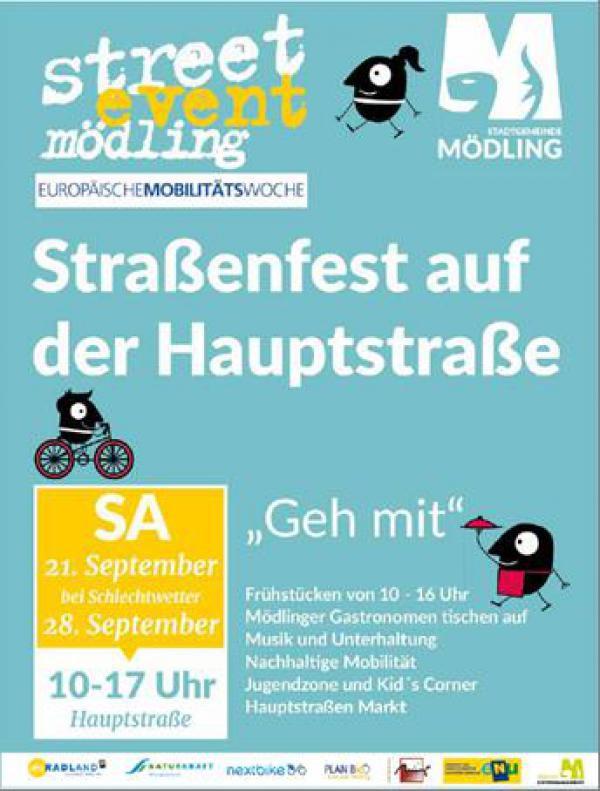 Plakat zu streetevent Mödling